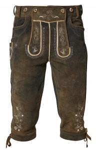 Kniebundlederhose aus Rothirschleder