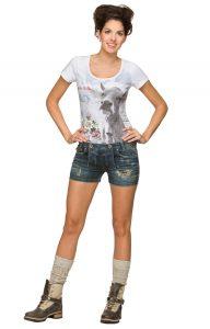 Sommerliche Trachtenstyles - kurze Jeanshose